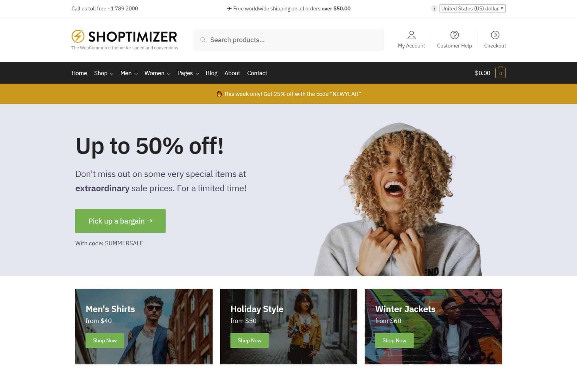قالب Shoptimizer
