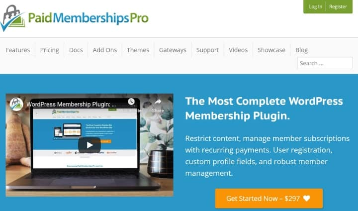 افزونه Paid Memberships Pro